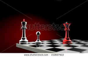 stock-photo-three-chess-pieces-the-white-king-white-pawn-and-red-queen-temy-artistic-background-153607922